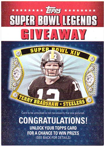 2011 Pittsburgh Steelers Super Bowl - Terry Bradshaw 2011 Topps Super Bowl Legends Giveaway #SBLG-2 - Pittsburgh Steelers