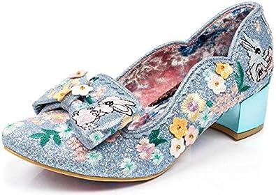 Irregular Choice Bunny Hop Bleu - Chaussures Escarpins Femme