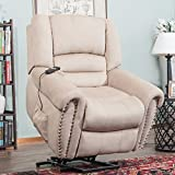 Harper&Bright Designs PP038818DAA Wilshire Series Heavy-Duty Power Lift Recliner Chair with Built-in Remote and 2 Castors