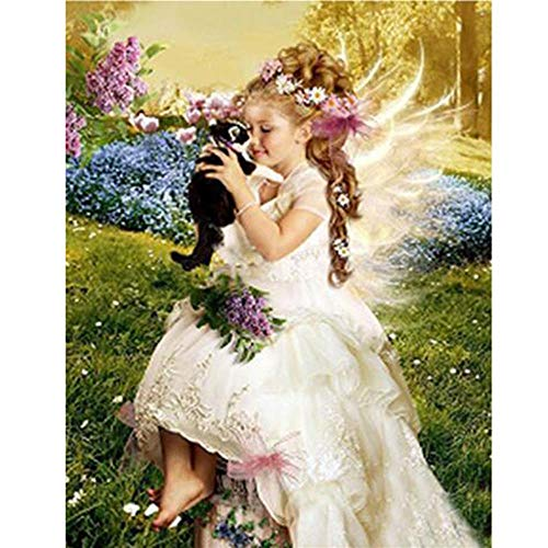 (Adults Wooden Jigsaw Puzzle 1000 Pieces Little Angel Scenery Children Leisure Creative Puzzle Games Art Toys Puzzles )