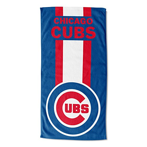 Laid Out Beach Towel - MLB Chicago Cubs Zone Read Beach Towel, Blue, 30'' x 60''
