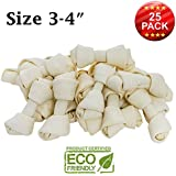 """Brazilian Pet 3-4"""" Premium Dog Bones –Chewing Dog Treat Made with The Best Rawhide 100% Natural - No Additives, Chemicals or Hormones – Natural Grass Fed in South America - USDA/FDA Approved"""
