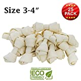 Brazilian Pet 3-4 Premium Dog Bones –Chewing Dog Treat Made With The Best Rawhide 100% Natural - No Additives, Chemicals or Hormones – Natural Grass Fed in South America - USDA/FDA Approved