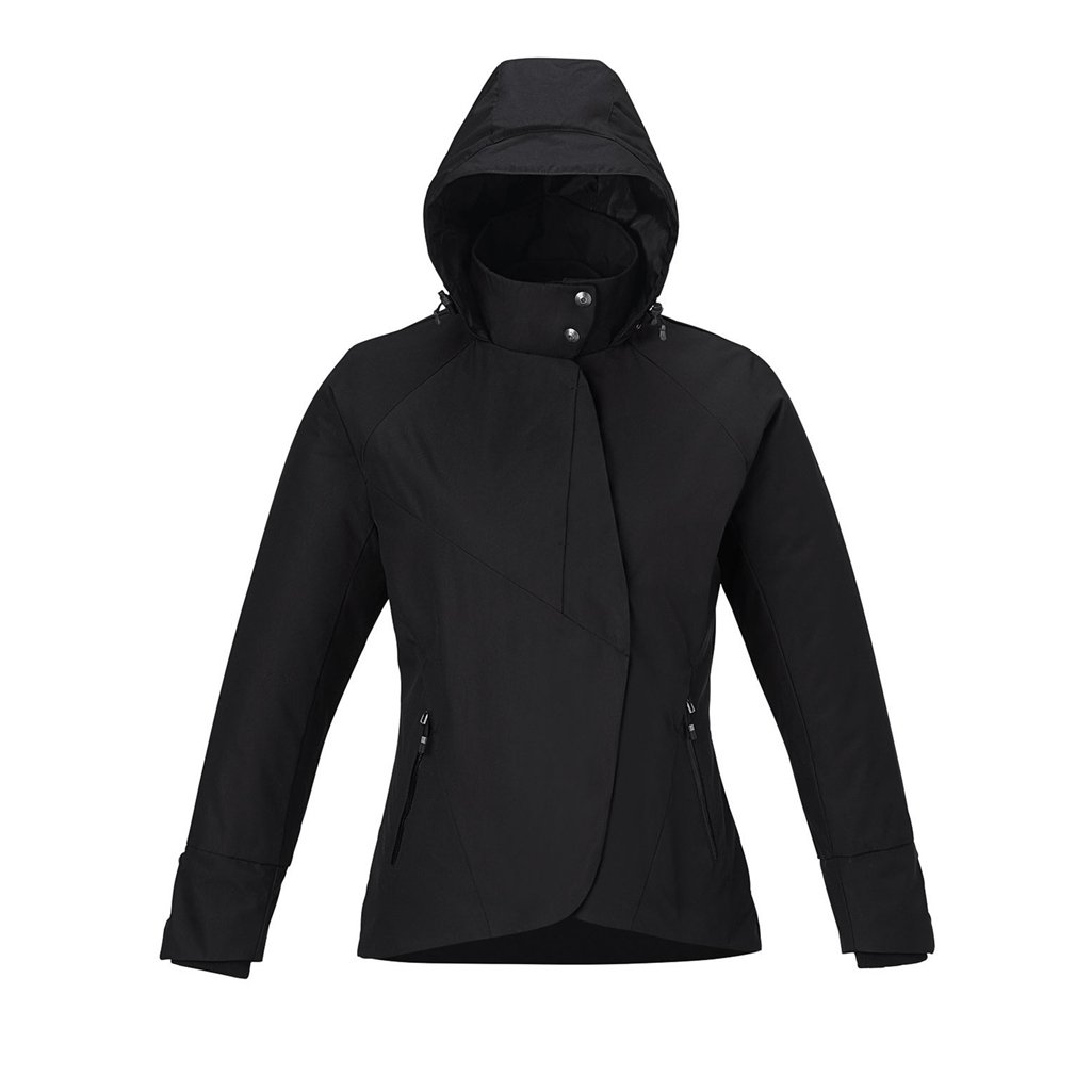 Ash City Ladies Skyline Twill Insulated Jacket (X-Small, Black)