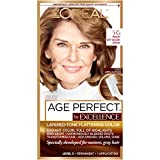 L'Oreal Paris ExcellenceAge Perfect Layered Tone Flattering Color, 5G Medium Soft Golden Brown