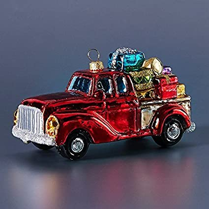 Vintage Truck With Gifts Christmas Ornament
