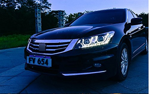 GOWE car Styling Head lamp for Honda Accord 2008-2013 LED Headlight DRL H7/D2H HID Xenon bi xenon lens Color Temperature:6000K;Wattage:55K 1
