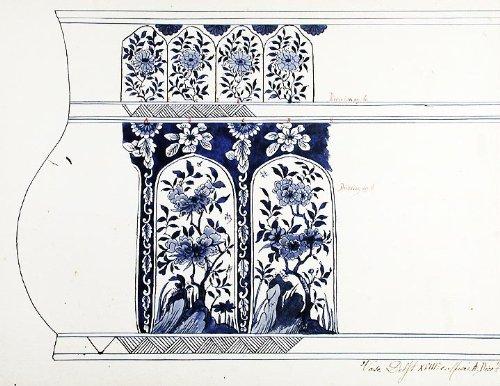 (An original design for a porcelain Delft vase)