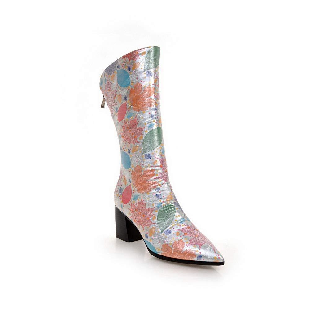 BalaMasa Womens Assorted Colors Bucket-Style Chukka Urethane Boots ABL11794