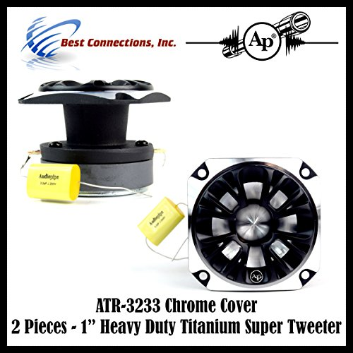 1 Speaker 1 Inch Heavy Duty Titanium Super Tweeter 350Watt ATR-3233 CHROME COVER
