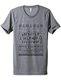 "<span class=""a-offscreen"">[Sponsored]</span>Stranger Christmas Men's Modern Fit T-Shirt Printed Graphic Tee"
