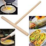 Rolling Pins And Pastry Boards | 1Pcs Kitchen Gadgets Chinese Specialty Maker Pancake Batter Wooden Spreader Stick Kitchen Accessories Kitchen Tool Diy |Cookie Cutter | By ALILA
