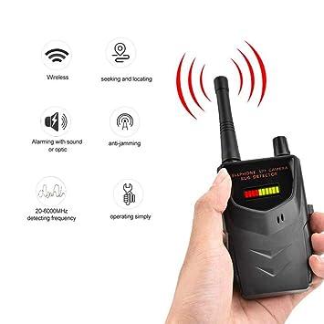 Stcamtancq Portable Detector de señal inalámbrica cámara Audio WiFi teléfono Celular Detector gráfico de Barra LED
