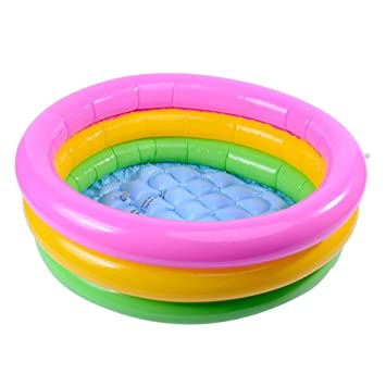 Round Baby Kids Swimming Ocean Ball Pool Inflatable Toddler Water Play