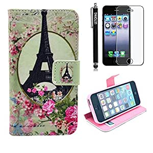 LETOiNG-5SPJ114E Wallet Leather Carrying Case Cover With Credit ID Card Slots/ Money Pockets For iPhone 5/5S Pattern-39