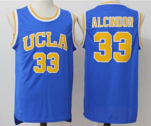 Mens UCLA Lew Alcindor #33 New Arrive Basketball Jersey Blue L
