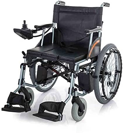 AVKL Wheelchair, Electric Wheelchair Folding Elderly Disabled Person Big Wheel with Table Board Seat