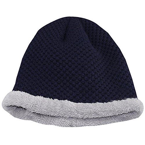 marino al y Sombrero KINDOYO aire al invierno hombre del caliente aire libre knit esquí otoño el del azul para grueso del libre el UBrqUYn