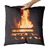 Westlake Art - Fireplace Warmth - Decorative Throw Pillow Cushion - Picture Photography Artwork Home Decor Living Room - 18x18 Inch (6AFD-42C54)