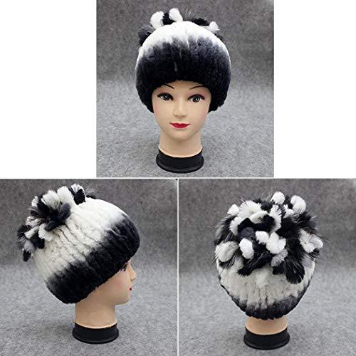 Chapeaux Mode Aimado De Fourrure Chapeau Chaud Féminine Tricotée D'hiver Type7 Bonnet TFwFxPqE
