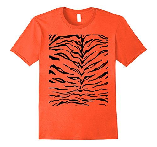 Simple Men's Costume Ideas (Mens Tiger Print Shirt, Simple Halloween Costume Idea Gift XL)