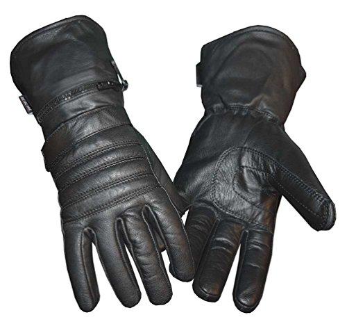 Redline Men's Winter Gauntlet Thinsulate Leather Gloves w/ Rain Cover G-051 (L)