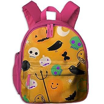 Cloogen Halloween Ballon Skeleton Students Backpacks For Teen Girls Kids Bookbag