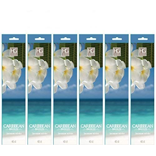 Hosley 's 240 Incense Sticks /約240 gm。Caribbean Breeze Highly Fragranced Incense。Infused With Essential Oils。w1 B00VTV8BRI