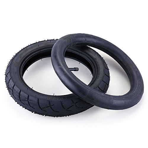 Daisy Pocket (12.5 x 2.25 Tire & Inner Tube Set for Razor Pocket Mod (Bella, Betty, Bistro, Daisy, Hannah, Sweet Pea), Currie, Schwinn, GT, IZIP, eZip - Gas & Electric Scooters Replacement Tire Tube by LotFancy)
