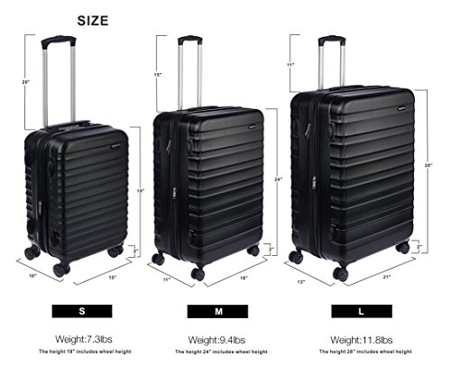 amazonbasics hardside spinner luggage 20 inch carry on