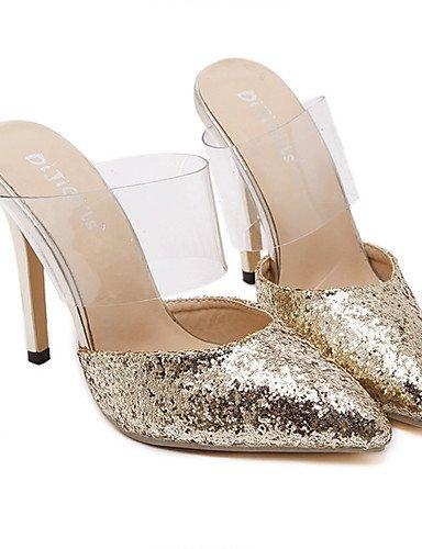 GGX/ Damen-High Heels-Party & Festivität / Kleid-Kunststoff-Stöckelabsatz-Absätze / Spitzschuh-Schwarz / Silber / Gold black-us5.5 / eu36 / uk3.5 / cn35