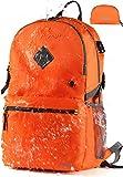 Vitino Backpack with USB Charging Port Water Resistant Lightweight Packable Backpacks for Travel Hiking - Basic Bag for Women Men (Orange)