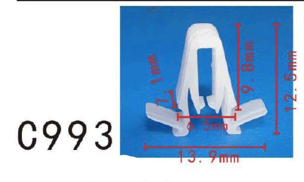 Pack of 20 Door Garnish Moulding Retainer Clip fits for Toyota #67771-58010