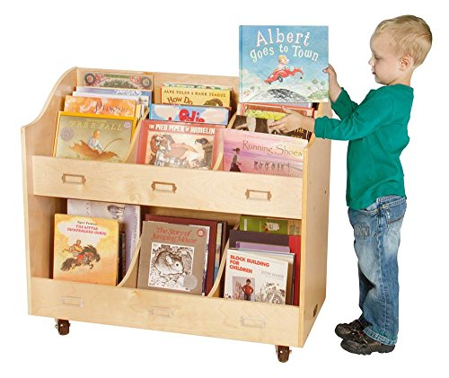 Guidecraft Mobile Book Organizer Set - Mobile Book Display