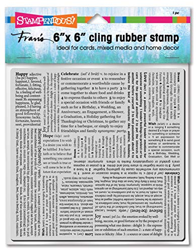 Stampendous 6CR018 Cling, Inspiring Text Stamp, -