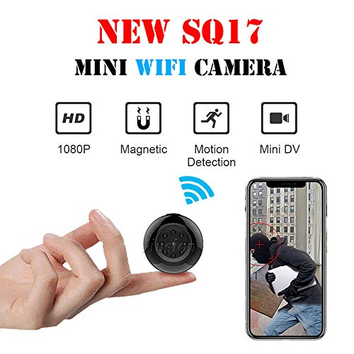 TONGTONG Mini WiFi Camera HD 1080P DV Magnet Bracket Night Vision Motion Detection Video Audio Recorder Micro Cam Security ()