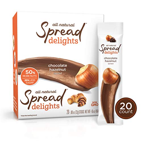 Spread Delights Single-Serve Chocolate Hazelnut Spread - Great on your Favorite Snacks & Pastries (20 Count Carton)