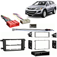Fits Mazda CX-9 2010 Single/Double DIN Stereo Harness Radio Install Dash Kit