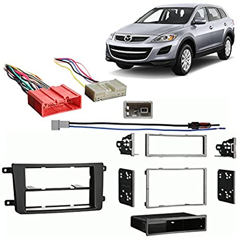 Fits Mazda CX 9 2010 Single/Double DIN Stereo Harness Radio Install Dash Kit