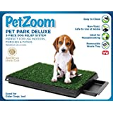 PetZoom Pet Park Dog Relief System with Removable Waste Tray, 3-Piece
