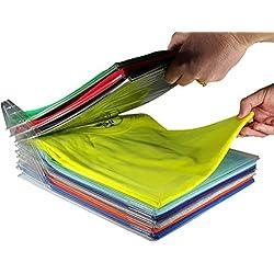 EZSTAX Closet Organizer and Shirt Folder   Regular Size, 20-Pack