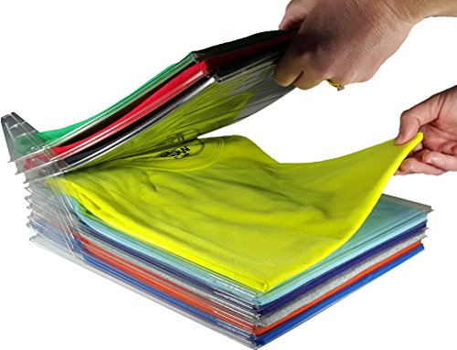 EZSTAX Closet Organizer and Shirt Folder | Regular Size, (Rectangular Bin Pull)
