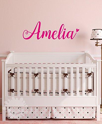 A Girls Name Decal / Custom name sticker / Personalized Wall Decal / Baby Name Decal / kids name sticker