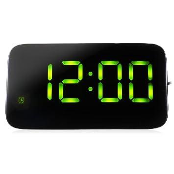 Nicole Knupfer - Reloj Despertador con Alarma LED, Digital, para mesilla de Noche,