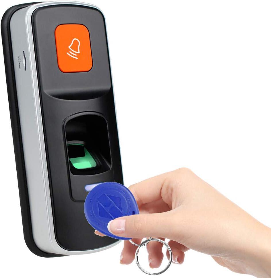 LUCINE RFID Syst/ème de Contr/ôle Dacc/ès Dempreintes Digitales Lecteur Biom/étrique Ouvre-Porte Contr/ôleur Dacc/ès Autonome 125 KHz 13.56 MHz
