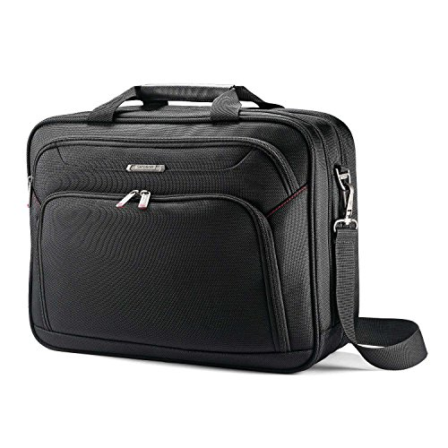 - Samsonite Xenon 3.0 Two Gusset Brief-Checkpoint Friendly Laptop Bag, Black, One Size