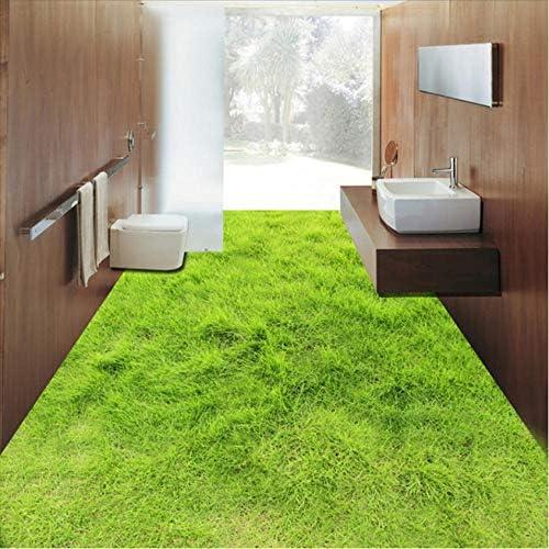 Clhhsy 部屋を飾る カスタム壁画の芝生のリビングルームの寝室のバスルーム3Dフロアステッカー自己接着防水床の壁紙の壁の家の装飾-150X120Cm