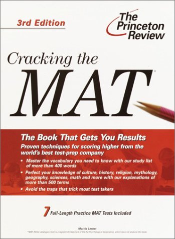 Pdf Test Preparation Cracking the MAT, 3rd Edition (Graduate School Test Preparation)