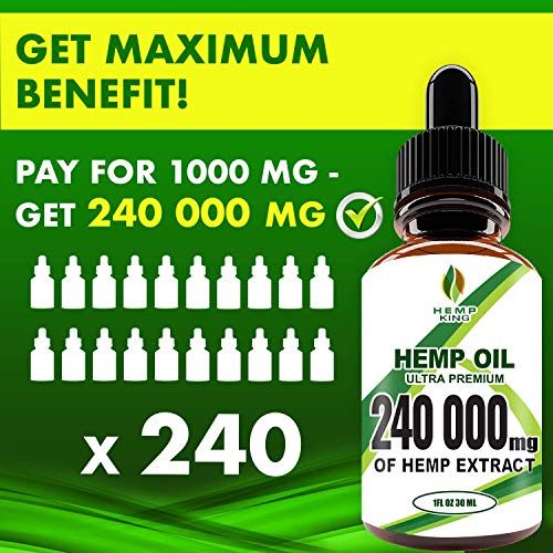 51BY1N0IlPL - Hemp Oil Drops 240 000 mg, 100% Natural Extract, Anti-Anxiety and Anti-Stress, Natural Dietary Supplement, Rich in Omega 3&6 Fatty Acids for Skin & Heart Health, Vegan Friendly