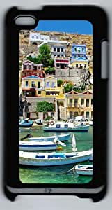Apple iPod 4 Case and Cover - Greece Coast View PC Case Cover for iPod 4/ iPod 4th Generation - Black